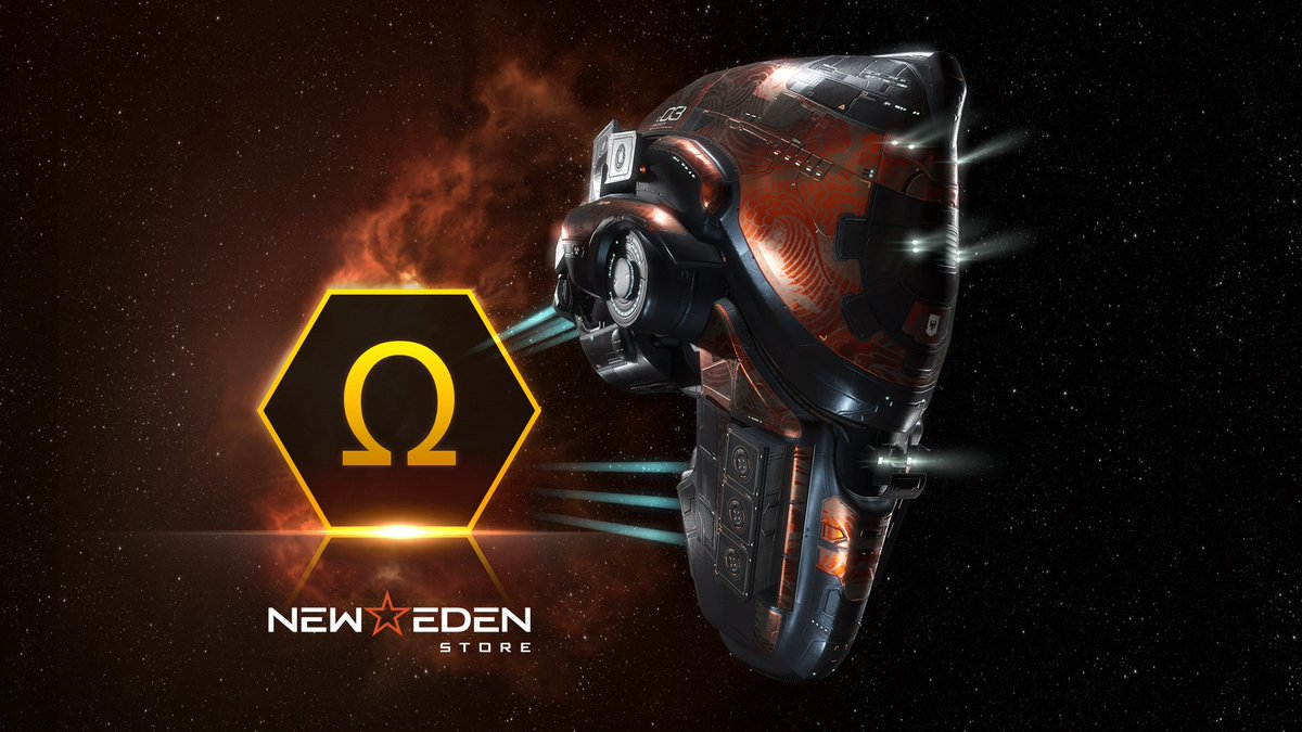 Check out this exclusive new 'Empyrean Dragons' SKIN for the Vexor Navy Issue that's available in the New Eden Store for free when you buy 30 days of Omega Time. #tweetfleet