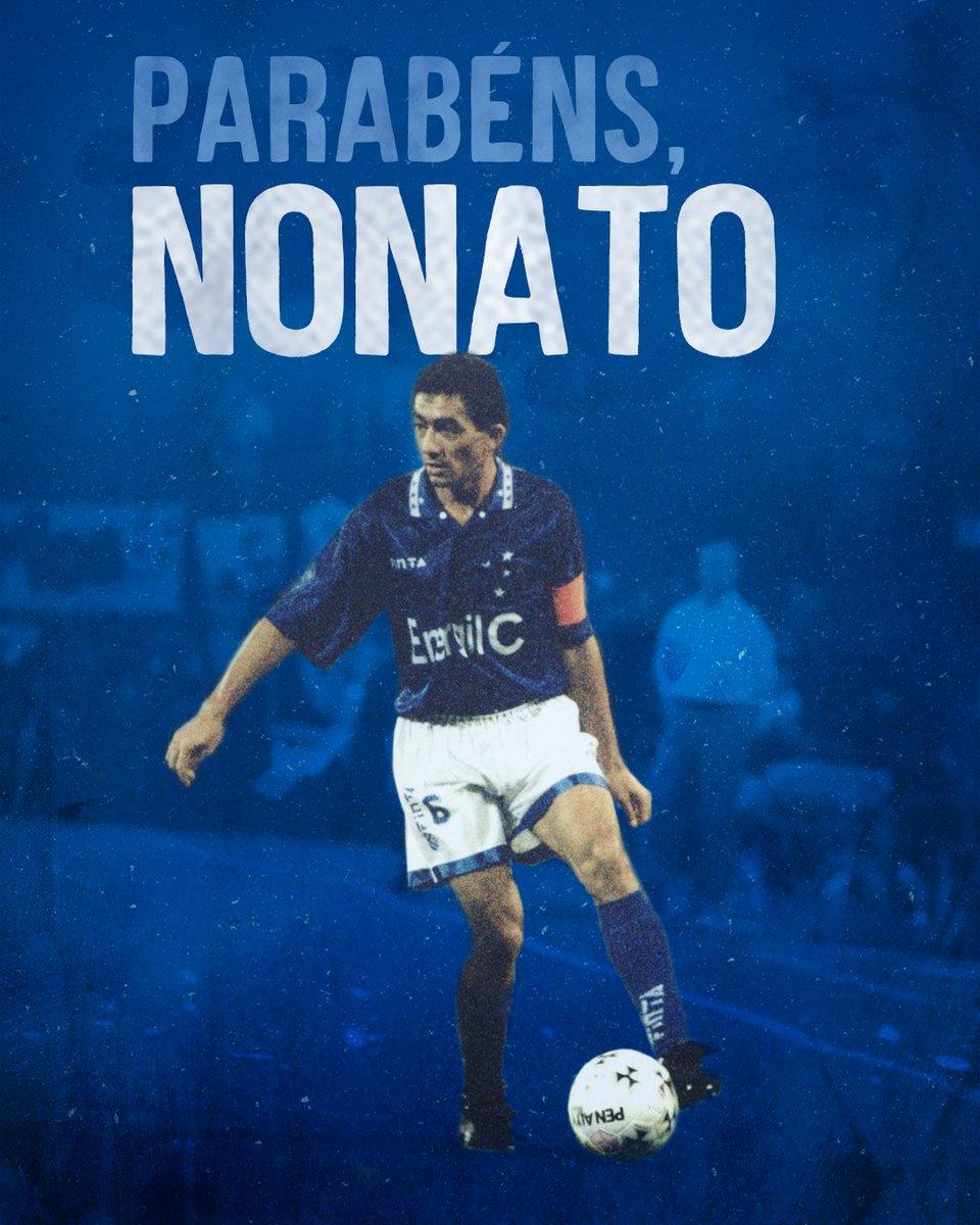 Hoje é aniversário de um dos maiores laterais esquerdos da história do #Cruzeiro. Uma lenda viva! Viva, Nonato! Parabéns!