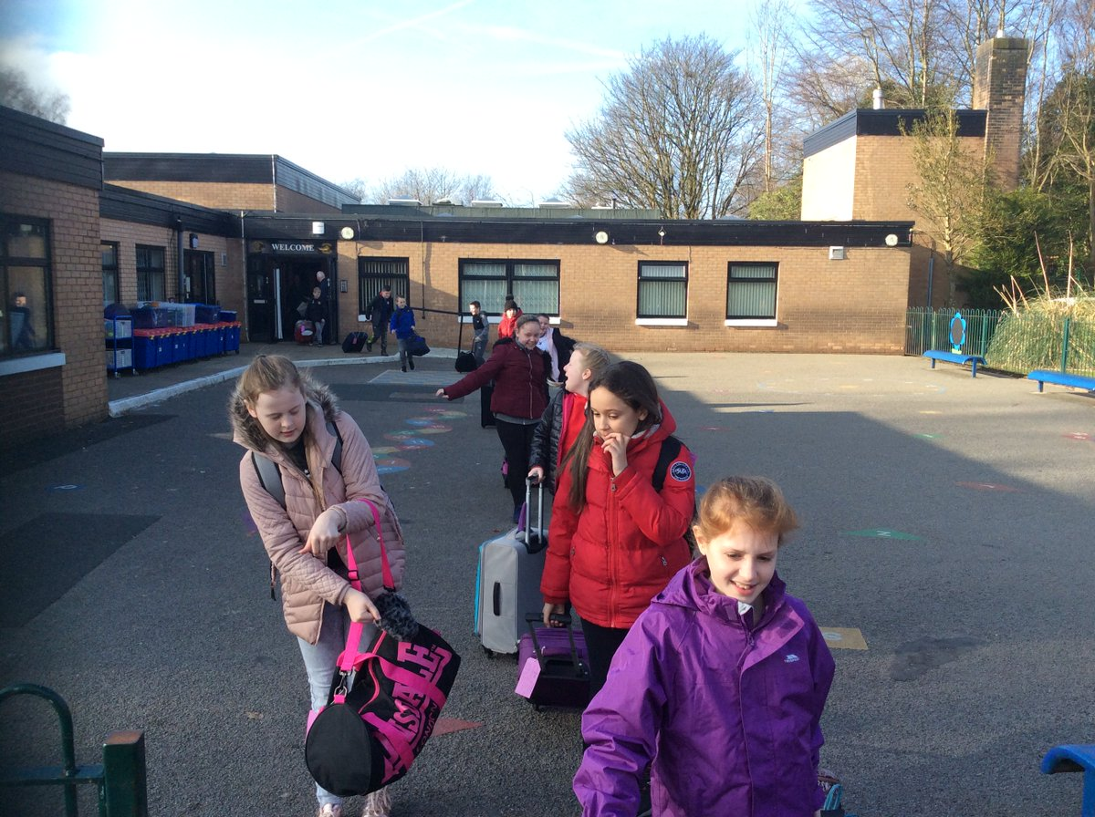 They're off! Have a fantastic time at Robinwood Year 6.