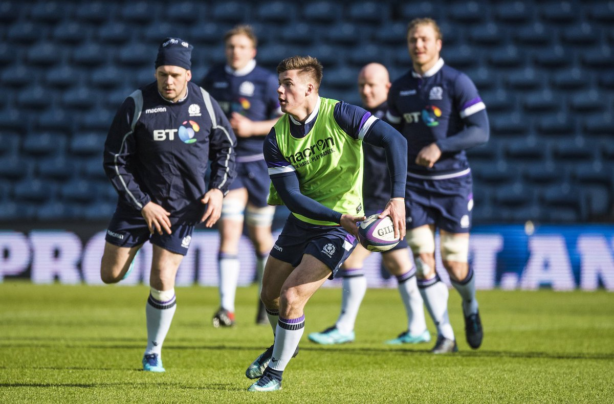 The Scotland squad were back out on the main pitch at BT Murrayfield earlier today for our final training session of the week before facing England tomorrow (KO 4.45pm) - live on BBC #AsOne
