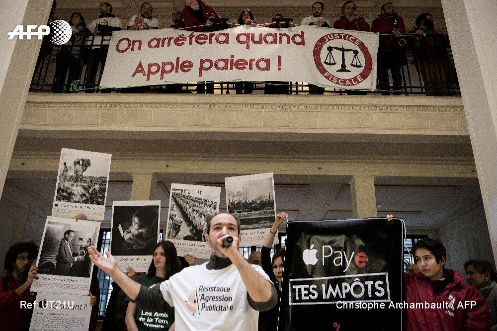 La justice refuse d'interdire l'occupation des magasins Apple par Attac #AFP