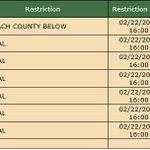 Suwannee Forestry Center 2/23/2018:  Open Burn Restrictions -> See Below...Phone 386-243-6243 #FLFire https://t.co/GQMp7p9366 … …