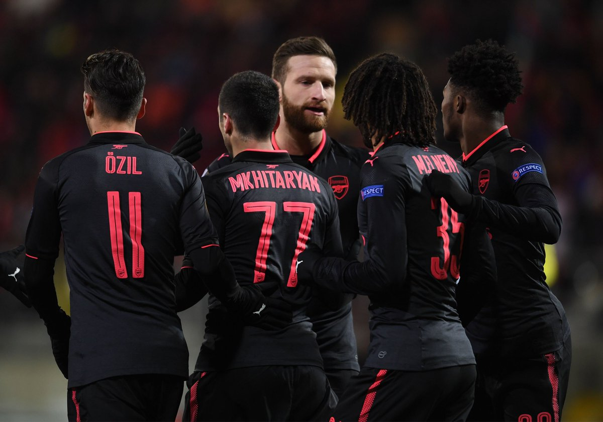 🚨 CONFIRMED EUROPA LEAGUE FIXTURE DATES 🚨  Thursday, March 8 @acmilan:  v Arsenal (kick-off 6pm, UK time) Thursday, March 15: Arsenal @acmilan v  (kick-off 8.05pm, UK time)