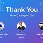 Our biggest fans this week: @NWSJacksonville, @wxgarrett, @WJXTScottJ. Thank you! via https://t.co/JB8xW2HA6P