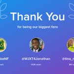 Our biggest fans this week: @FishlakeNF, @WJXT4Jonathan, @tina_mallard. Thank you! via https://t.co/ojLw6c1loQ