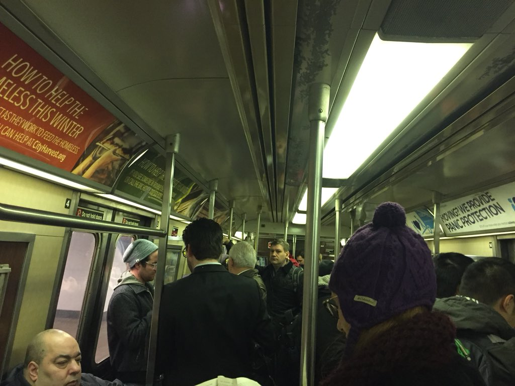 Today's rush hour trip on the #F train had no signal problems, switch issues, train traffic ahead of us, or sick customers. #NBC4NY