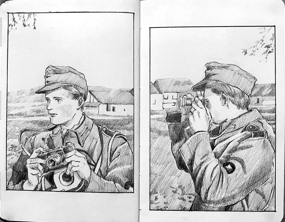 ライカIIIcとエルマーのレンズ #sketch