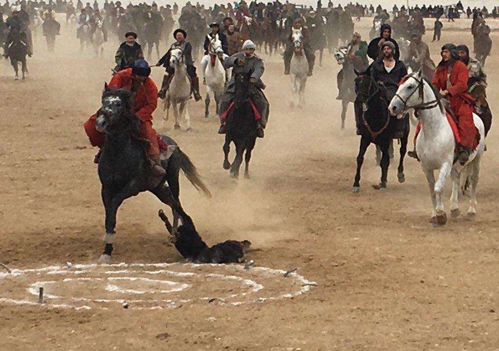 So much fun! An Afghan weekend afternoon at a buzkashi match, watching reckless riders on wild horses #dpareporter