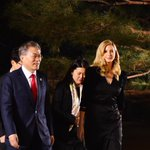 Thank you President Moon and First Lady Kim for your warm hospitality and the very special dinner at the historic Blue House, marking the start of our visit to South Korea. #PyeongChang2018 #WinterOlympics