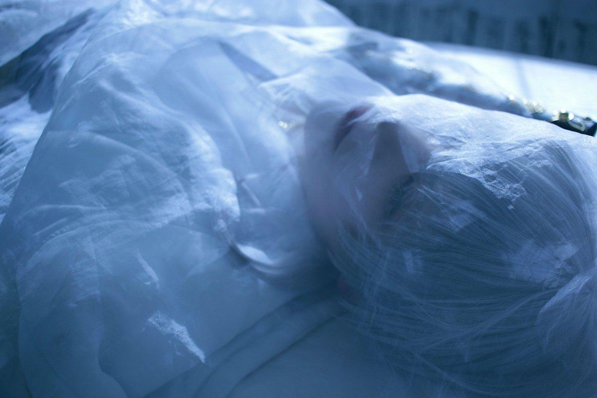 【コスプレ/刀剣乱舞】  ···  雪解けと目覚め  「おはよう」  ***  鶴丸国永*あすぱら photo*そめおか Studio*アイリベルテ(@ailiberte_s)