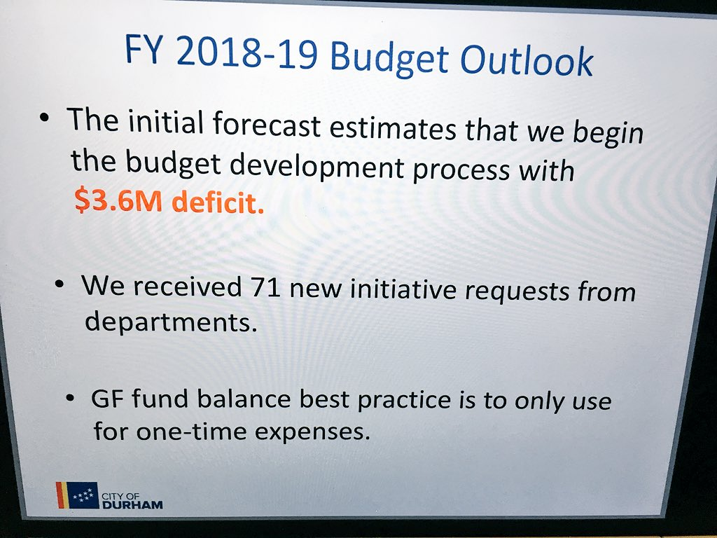 Cityofdurhamnc On Twitter Budget Director Bertha Johnson Presents