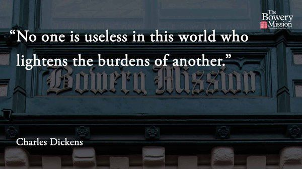 'No one is useless in this world who lig...