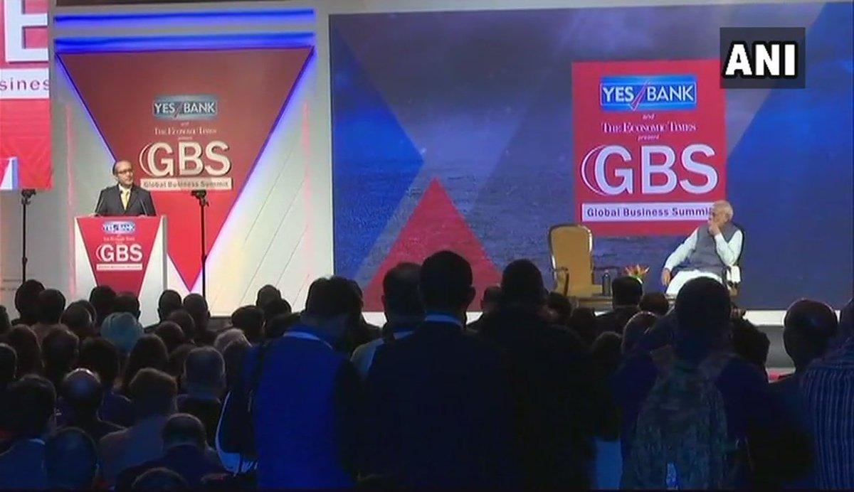 #WATCH Live via ANI FB: PM Narendra Modi at the 4th Global Business Summit in Delhi https://t.co/3mo97GEPcV