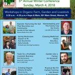 .@NOFARhodeIsland's Winter Conference is March 4 at @HopeandMain! https://t.co/Y6wsEgS1Zd @RhodeIslandDEM #RelishRhody @FarmFreshRI @RIFPC   @RhodyAg @NOFAMass @freedomfoodfarm @EHTFLLC @BionutrientFood