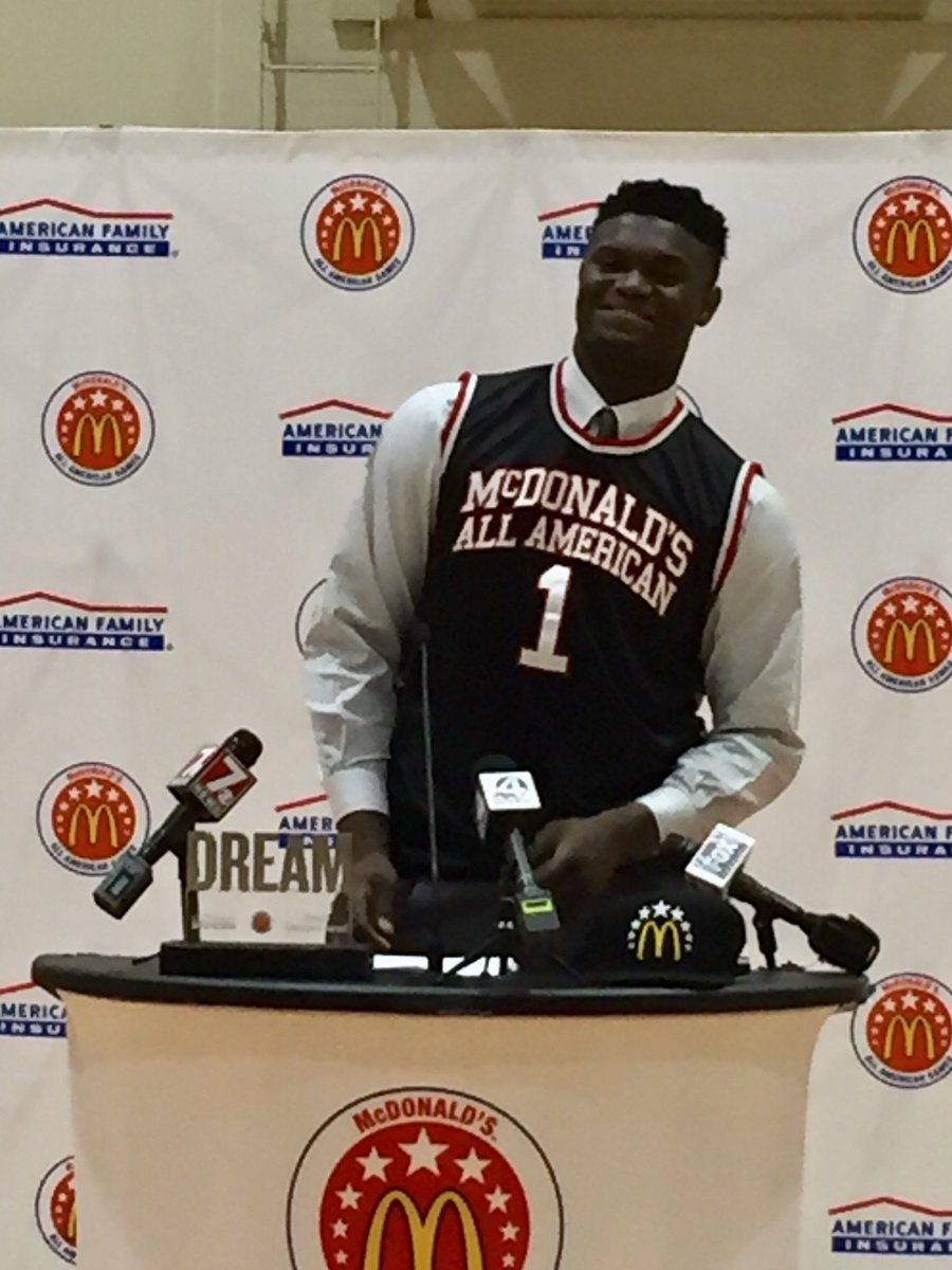 429ea268c27e rt toddsummers7 zion williamson is all smiles as he joins the likes of  michael jordan lebron