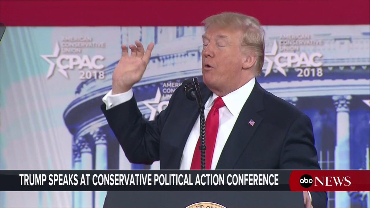 Trump polls audience at conservative conference on whether they'd have the 2nd Amendment or tax cuts