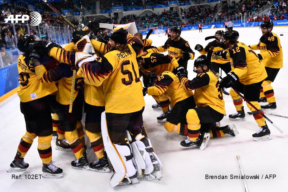 #PyeongChang2018/Hockey - Germany stuns two-time Olympic champion Canada (4-3) to advance to the final #AFP