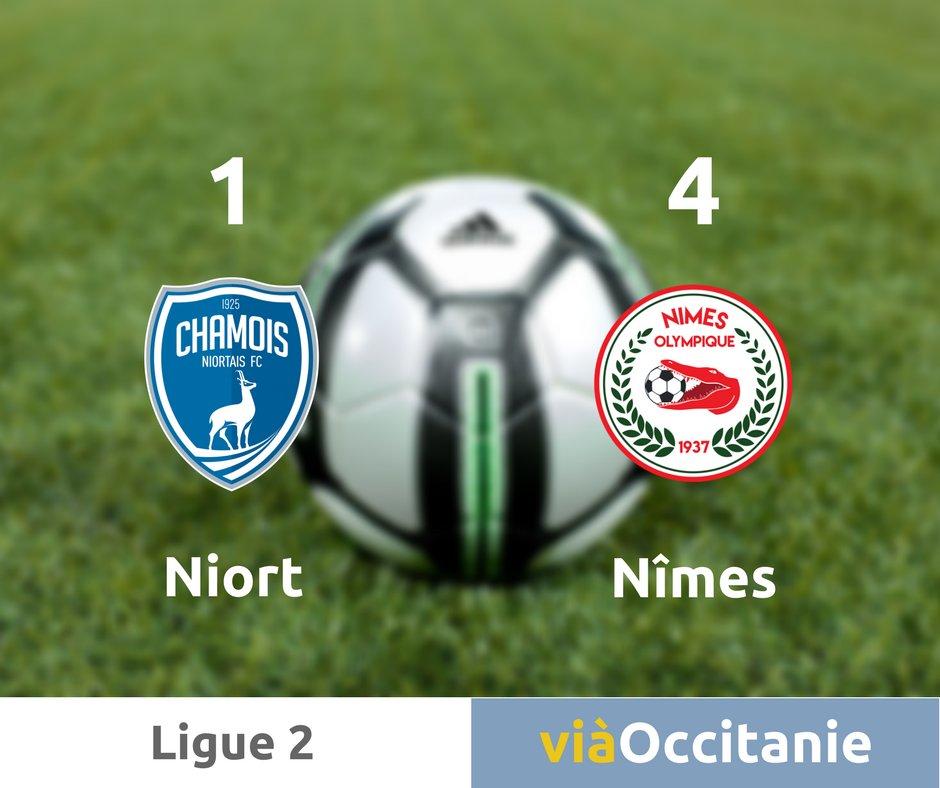 ⚽ #Nimes consolide sa deuxième place de @DominosLigue2 2 grâce à un doublé de #Bozok et #Alioui 👏
