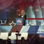 Image for the Tweet beginning: Marion Marechal-Le Pen at #cpac2018: