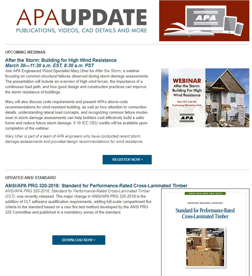 Apa Engineered Wood On Twitter This Month S Apa Update Is Now