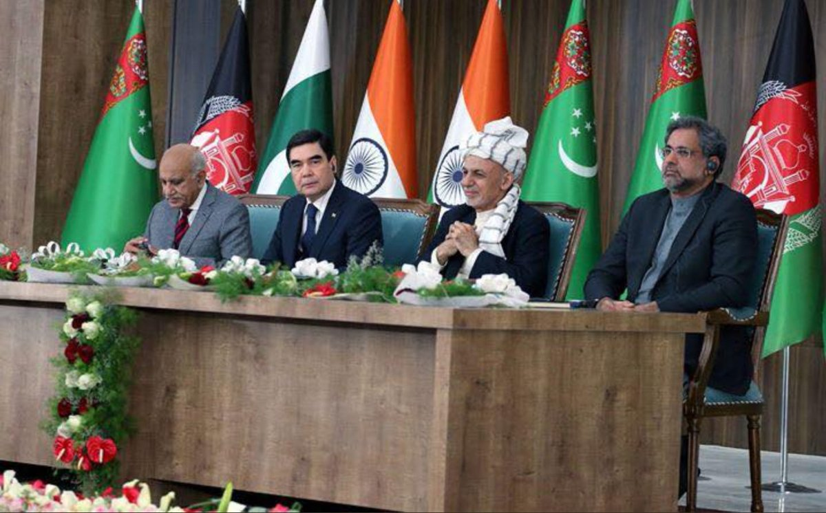 Work on #TAPI gas pipeline to transfer the #naturalgas of #Turkmenistan to #Afghanistan, #Pakistan & #India was inaugurated today in the western #Herat City of Afghanistan. Mega projects of this kind are linking the destiny of regional countries. A clear model of win-win for all!
