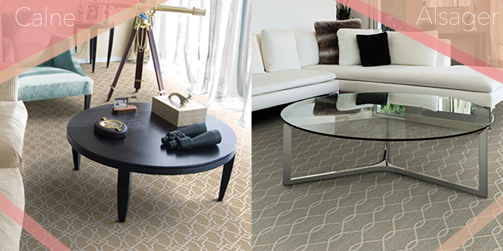 Both Alsager and Calne carpets have graceful, soothing patterns. Which style is your favorite?   #Staatsburg #StaatsburgNY