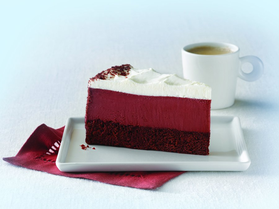#CurrentlyCraving: #RedVelvet #ElisCheesecake > A moist and subtle cocoa-flavored red velvet cake, a layer of rich and creamy red velvet cheesecake and fluffy vanilla mousse with a dusting of red velvet cake crumbs > https://t.co/mwQIs7KnfL