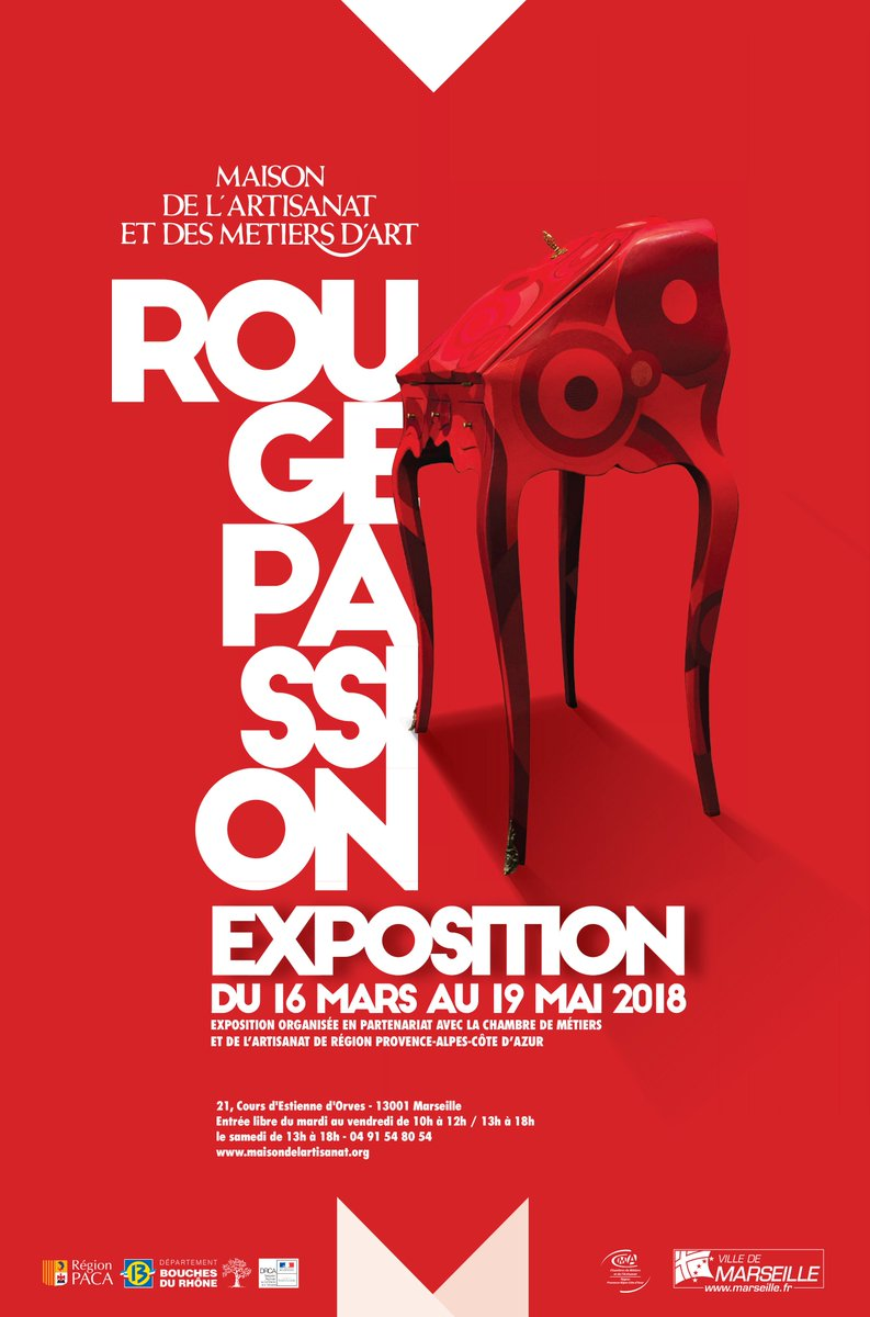 be ready to change your glasses to the passion red exhibition from march 16th to may 19th to the maison de lartisanat et des mtiers dart in