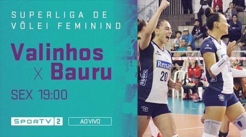 A bola vai subir para mais uma rodada da Superliga!   Acompanhe o Valinhos encarando o Bauru, nesta sexta às 19:00, ao vivo, no SporTV2. #SuperligaNoSporTV