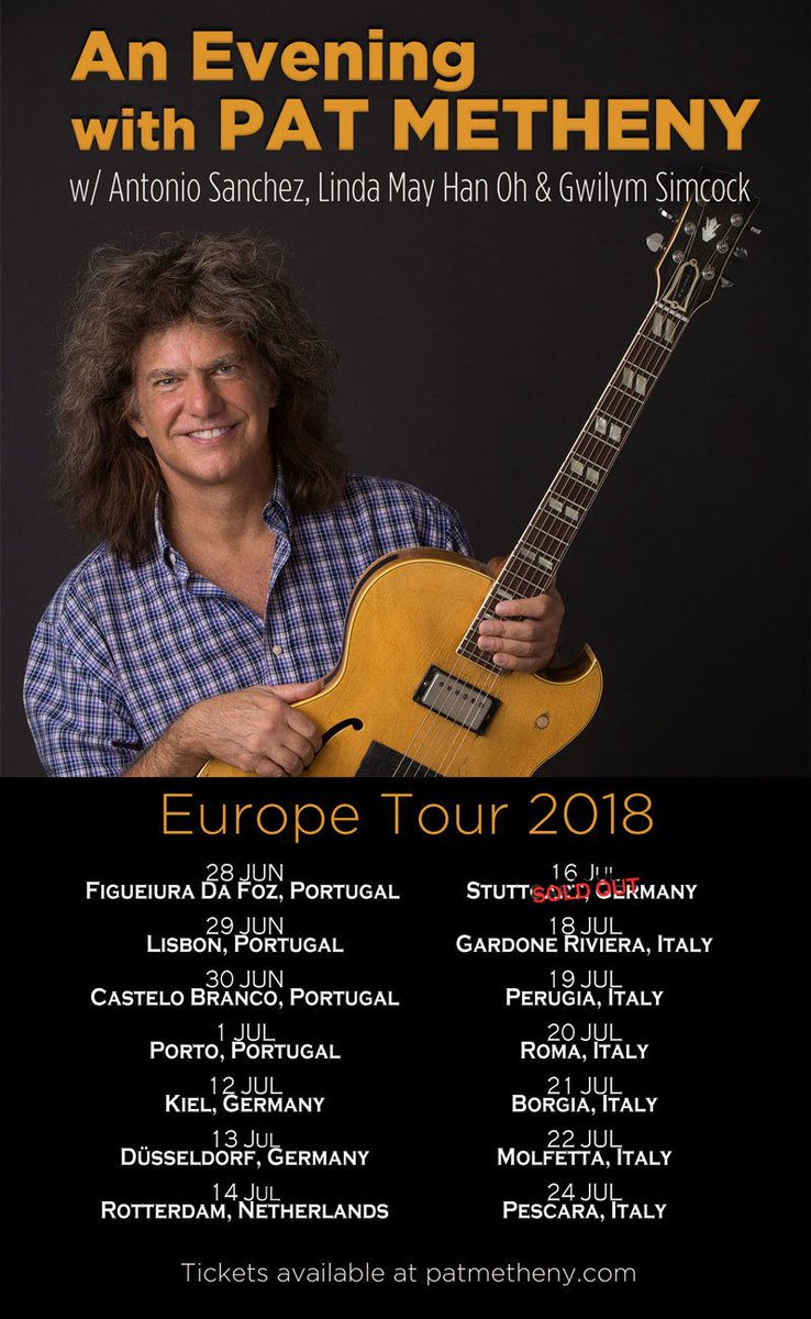 Look Out For More Us Dates To Be Announced Soon As Well Tickets Available At Http Www Patmetheny Pic Twitter Yznkvzwzhy