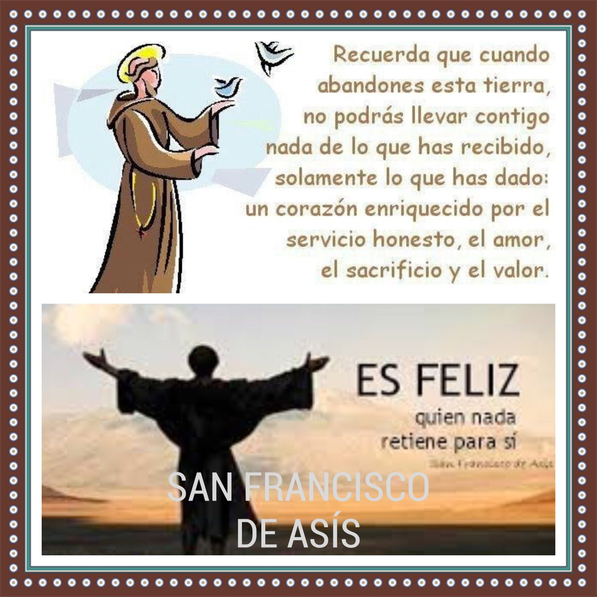 San Francisco De Asis On Twitter Frases De San Francisco De Asis