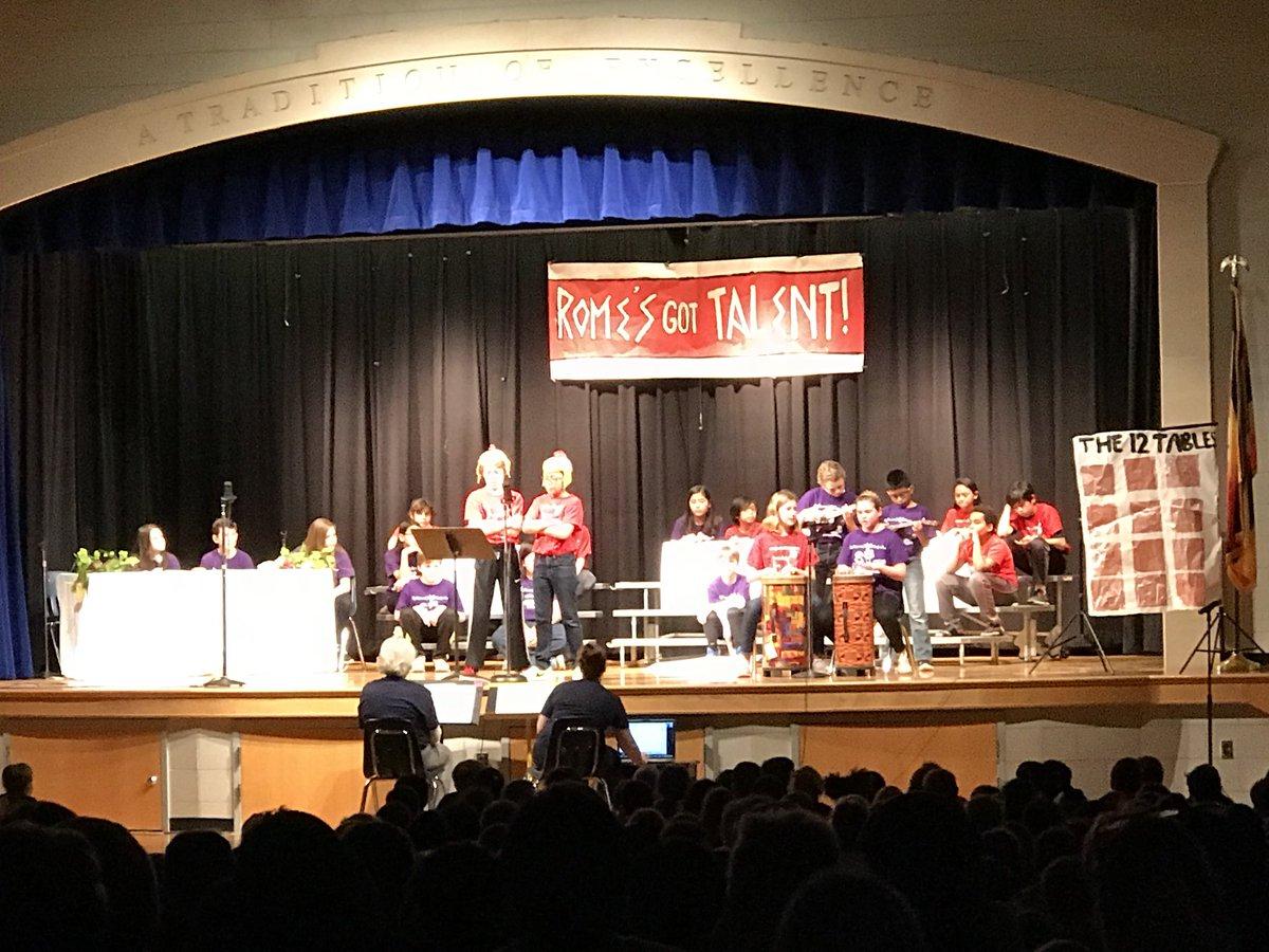 Rome's Got Talent! Mrs. Benson's class play...written by Williamsburg's 8th grade Latin II class! <a target='_blank' href='http://twitter.com/mrscapellan'>@mrscapellan</a> <a target='_blank' href='http://twitter.com/WilliamsburgAdm'>@WilliamsburgAdm</a> <a target='_blank' href='https://t.co/d7qo3TQbAZ'>https://t.co/d7qo3TQbAZ</a>