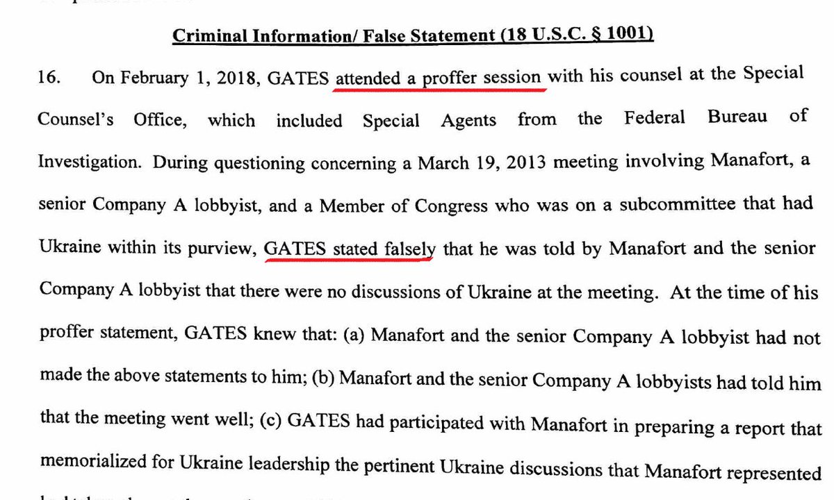 This man lied to Mueller's team while trying to cut a deal with Mueller's team.  #RickGates