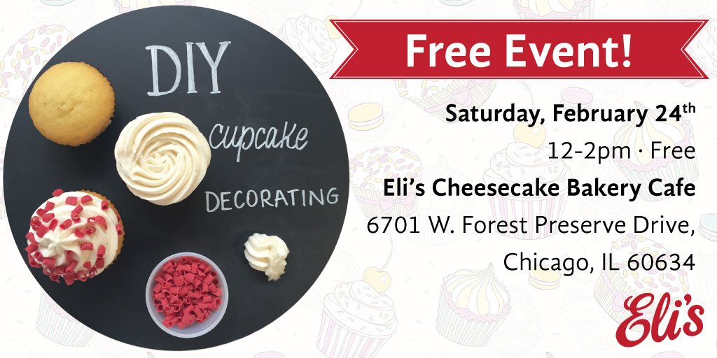 Join us tomorrow, Feb 24th at our #Chicago Bakery Cafe for #free #DIY Cupcake decorating! Create your own masterpiece between 12-2pm > https://t.co/JpyIKodslq