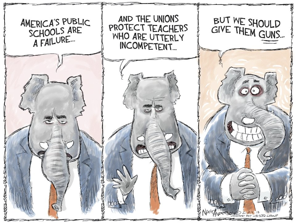 A teachable moment...#Guns #NRA #TeachersWithGuns #ArmingTeachers #FloridaSchoolShooting Support/subscribe to my cartoons here:https://www.patreon.com/editorialcartoons…