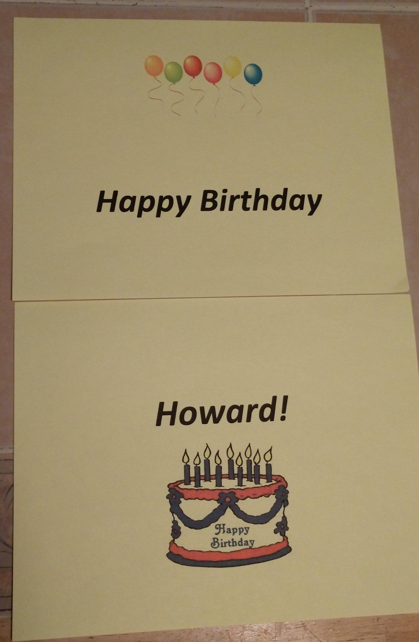 Ready for Howard Jones, Happy Birthday!