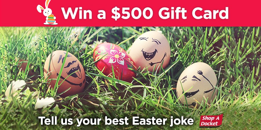 Shop a docket shopadocket twitter to win a 500 woolworths gift card head to our facebook page tell us your best easter joke httpbit2m5ilrs winner announced via facebook 1st negle Image collections