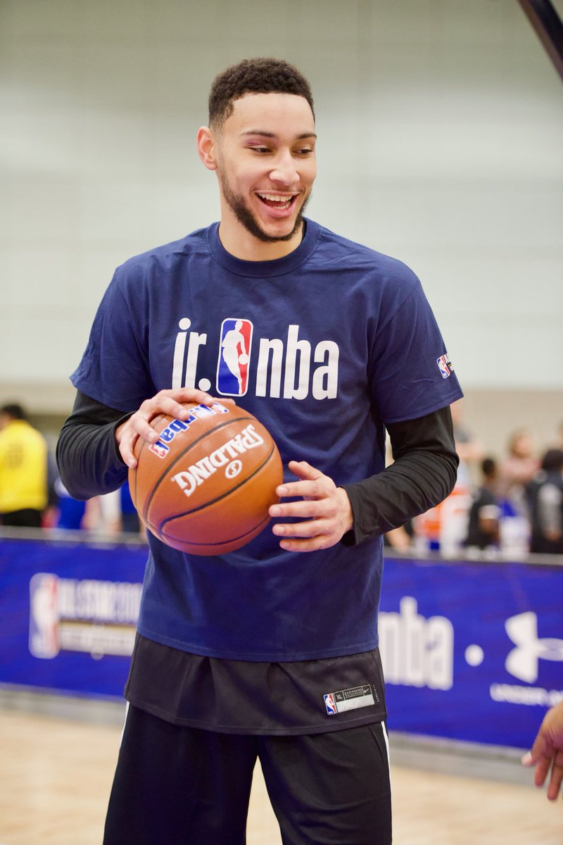 Kids had the chance to improve their game and learn from the best at #JrNBADay during @NBAAllStar!   Check out the full gallery: http://on.nba.com/2FvczxO