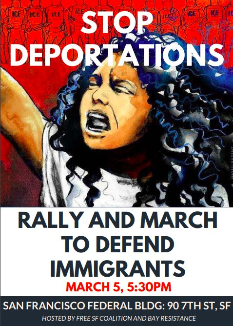 Stop Deportations: Rally and March to Defend Immigrants @ SF Federal Bldg | San Francisco | California | United States
