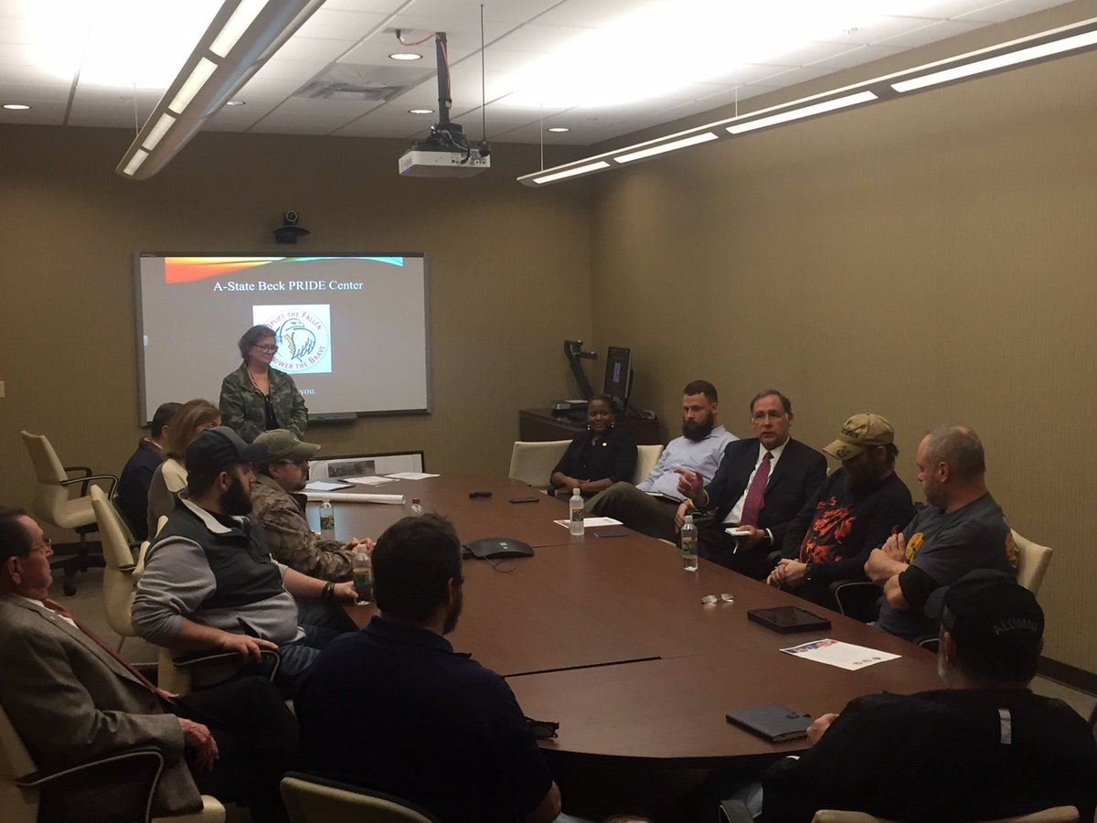 The @ArkansasState Beck Pride Center is an important resource for #veterans. I appreciated meeting with #Arkansas veterans to hear how they utilize the services to help them accomplish their goals.