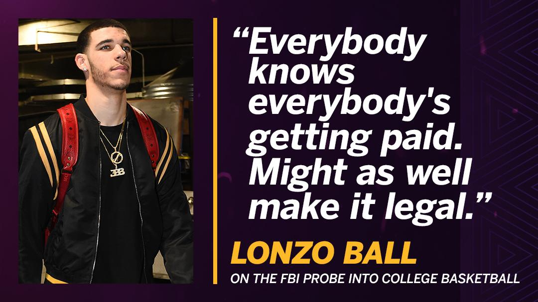 Lonzo Ball said he did not receive money from agents while at UCLA, but ...