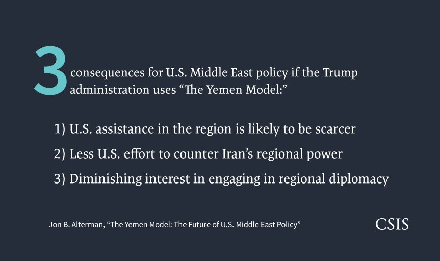 """Those looking to see where U.S. Middle East policy is heading should look to Yemen, not Syria."" https://t.co/QWvHmxu6wg"