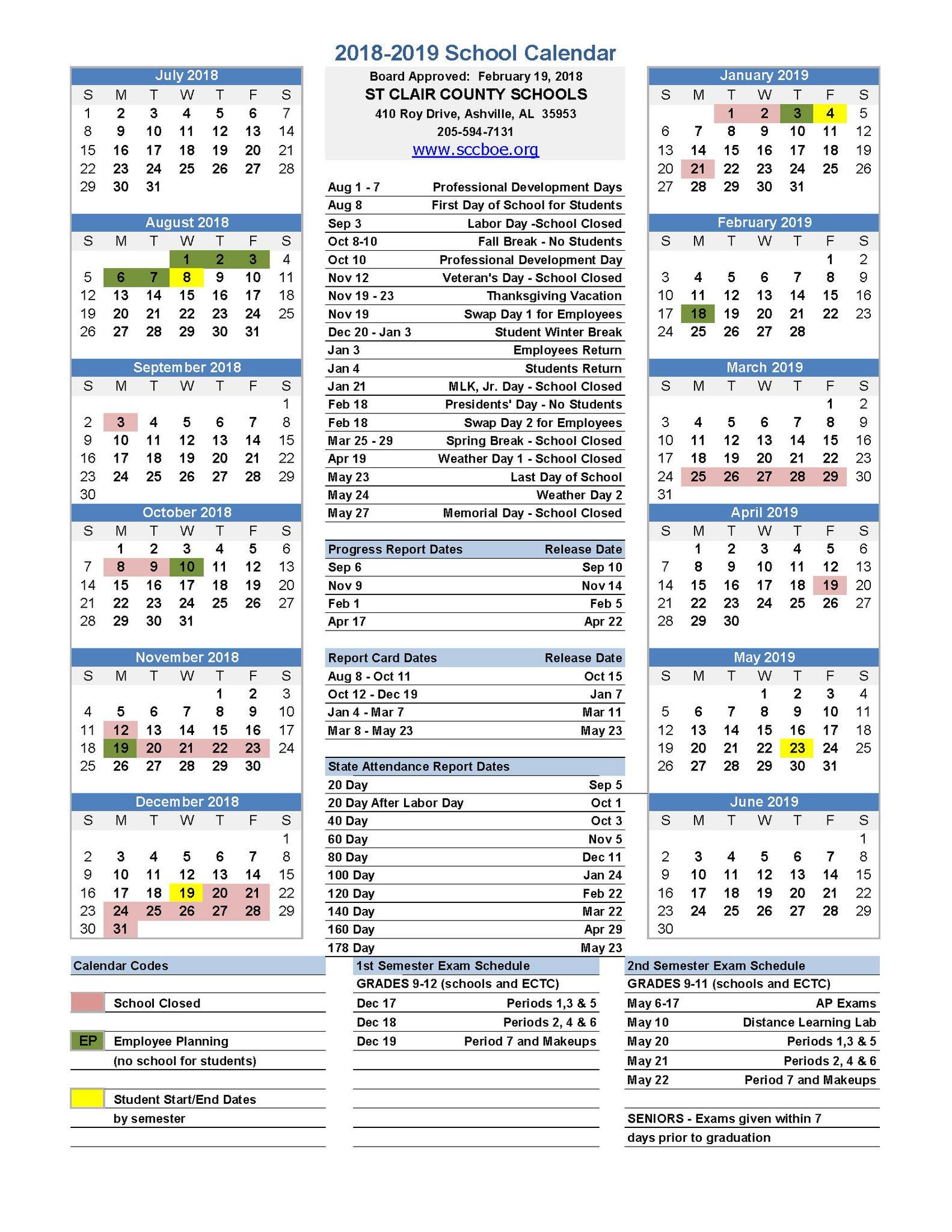 St Clair County School Calendar 2019 St. Clair County Schools on Twitter: