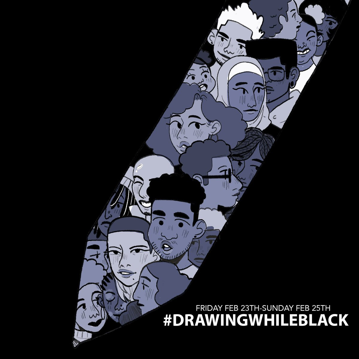 relaunching #drawingwhileblack this weekend for #BlackHistoryMonth! Let's end February right! 🙌🏿