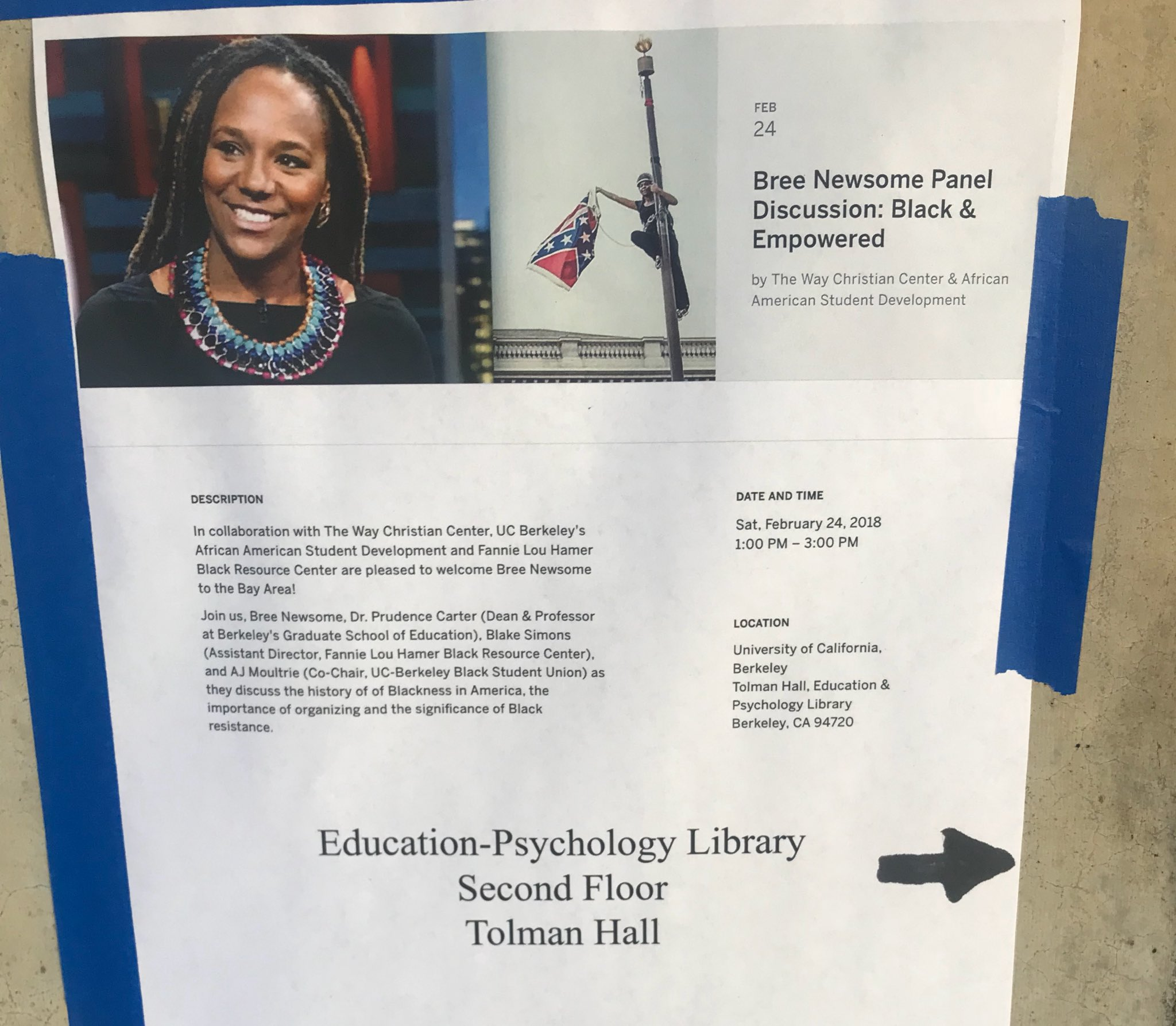 Bree Newsome Panel Discussion: Black and Empowered. @ Tolman Hall, UC Berkeley | Berkeley | California | United States