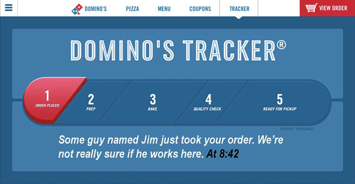 Pitch On Twitter This Dominos Pizza Tracker Is Pretty Wild