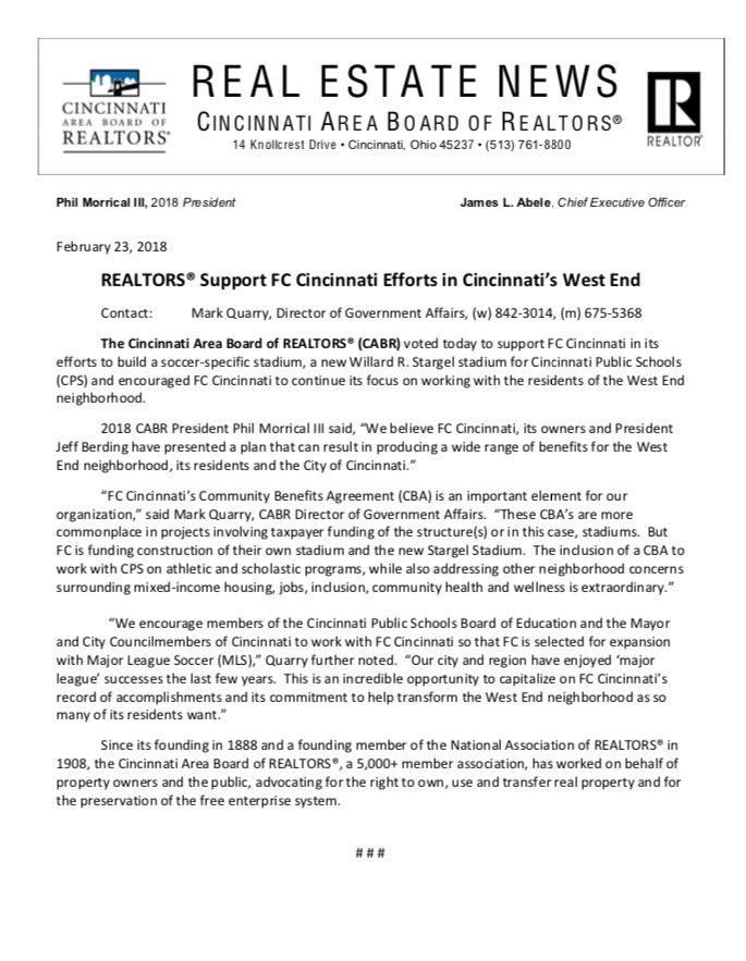 Jason Williams On Twitter Cincinnati Area Board Of Realtors Come