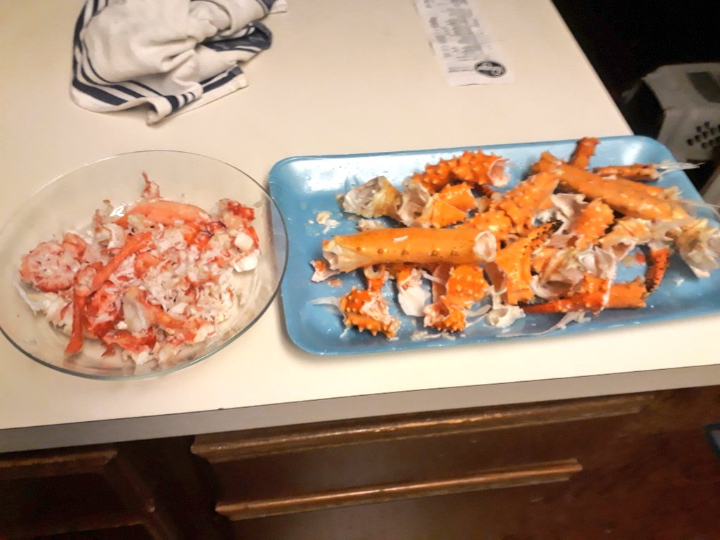 yield of king crab legs is 431g/kg ...