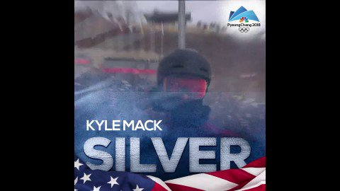It's a SILVER for @TeamUSA's @_KyleMack!...