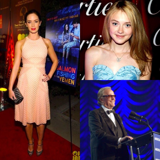 Happy Birthday to our past attendees Emily Blunt, Dakota Fanning, and Peter Fonda